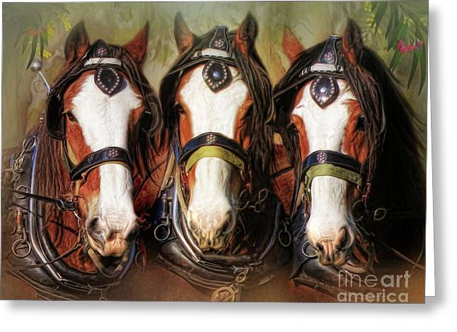Greeting Card featuring the digital art  Pioneers by Trudi Simmonds