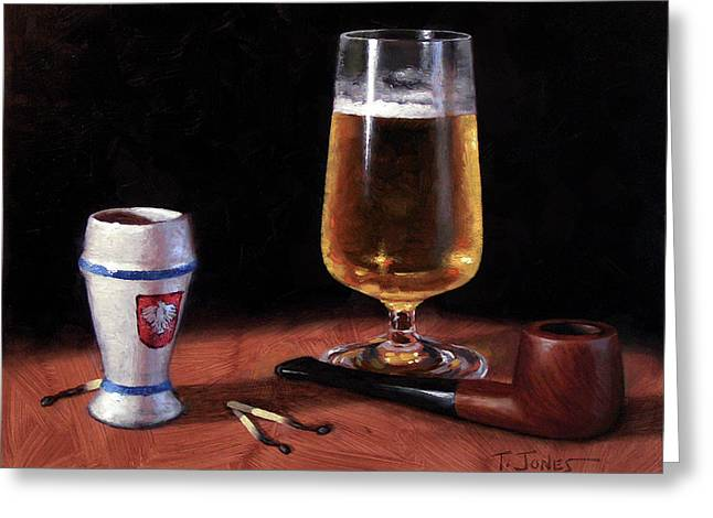 Pipe And Beer Greeting Card