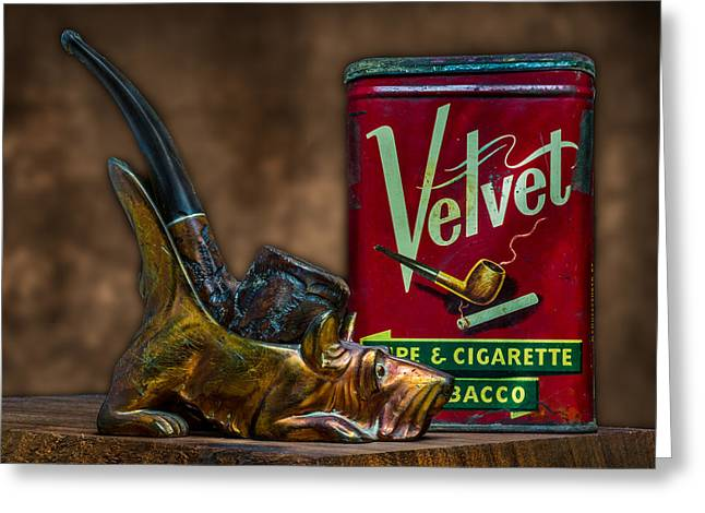 Pipe And Tobacco Greeting Card by Paul Freidlund