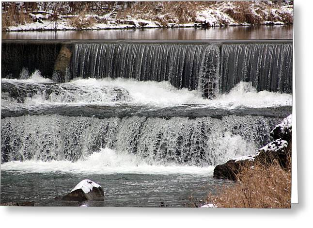 Pipe Creek Falls Greeting Card by Bruce McEntyre