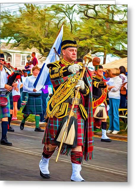 Pipe Major - Paint Greeting Card