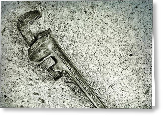 Pipe Or Stillson Wrench Greeting Card