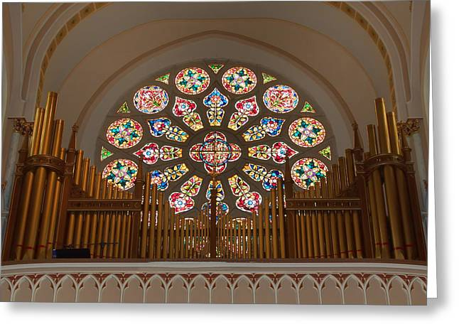 Pipe Organ - Church Greeting Card