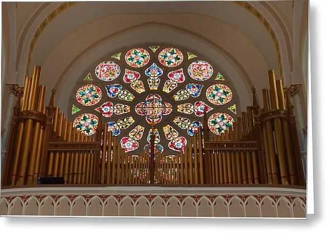 Pipe Organ - Church Greeting Card by Kim Hojnacki