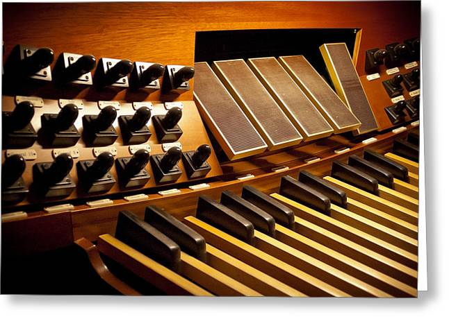 Pipe Organ Pedals Greeting Card