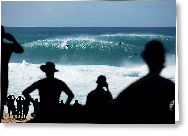 Pipeline Silhouettes Greeting Card by Sean Davey