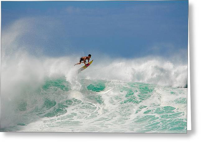 Pipeline Swell Greeting Card by Megan Martens