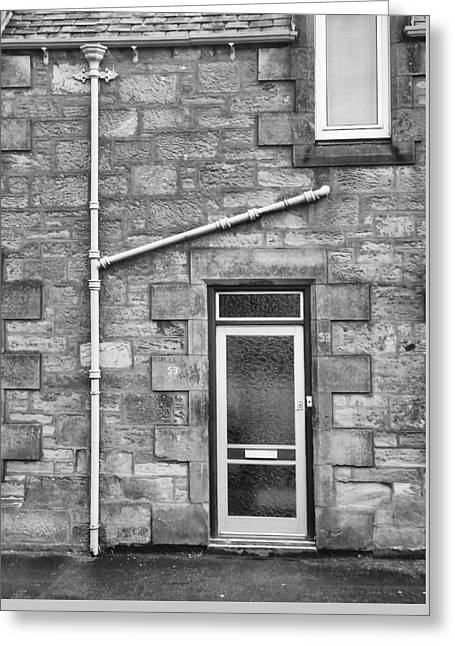 Greeting Card featuring the photograph Pipes And Doorway by Christi Kraft