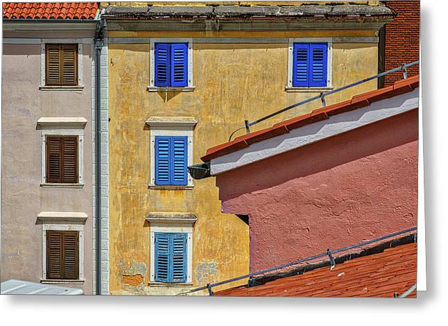 Greeting Card featuring the photograph Piran Colors - Slovenia by Stuart Litoff