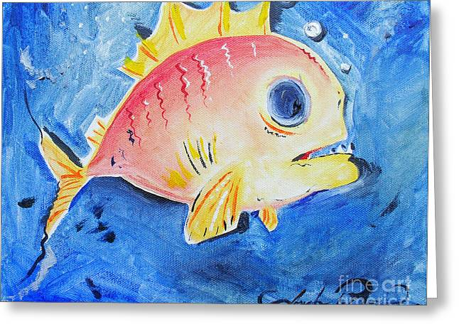 Piranha Art Greeting Card by Joseph Palotas