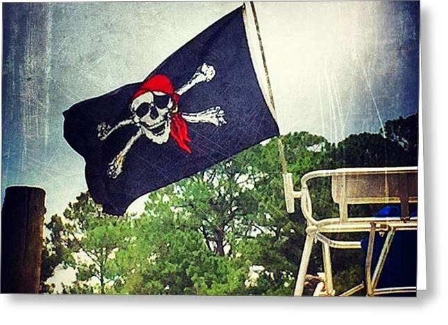 Pirate Flag #boating #msgulfcoast Greeting Card