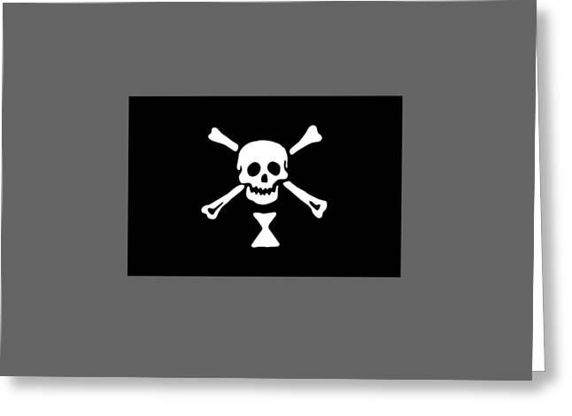 Pirate Flag Of Emmanuel Wynne Greeting Card by Frederick Holiday