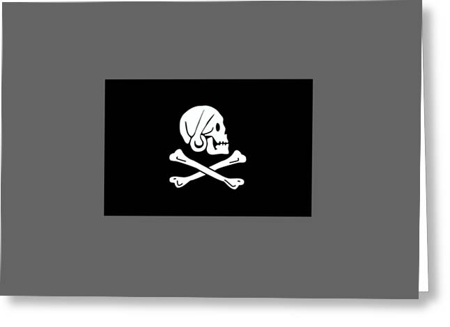Pirate Flag Of Henry Every Greeting Card by Frederick Holiday