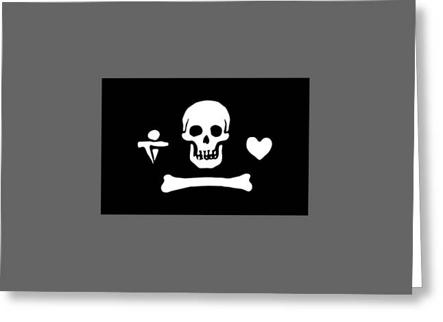 Pirate Flag Of Stede Bonnet Greeting Card by Frederick Holiday