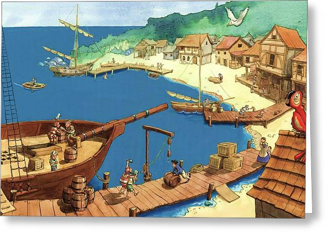 Pirate Port Greeting Card