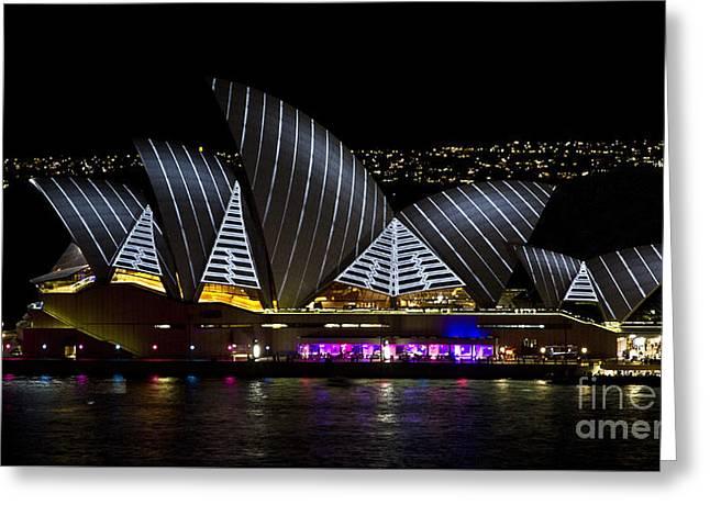 Pirate Sails - Sydney Opera House - Vivid Festival - Australia Greeting Card