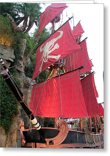 Pirate Ship Greeting Card by Alan Espasandin
