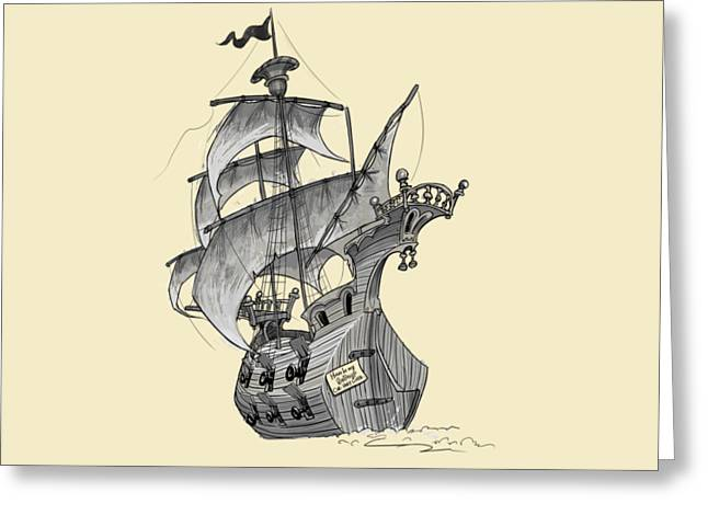 Pirate Ship Greeting Card