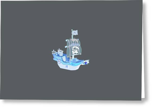 Pirate Ship  Greeting Card by Frederick Holiday
