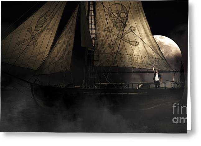 Pirate Ship Greeting Card by Jorgo Photography - Wall Art Gallery