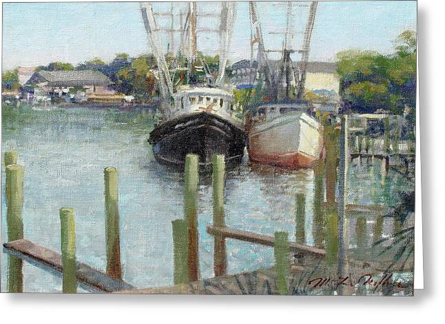 Florida Panhandle Paintings Greeting Cards - Pirate Sons  Greeting Card by Mitch Kolbe