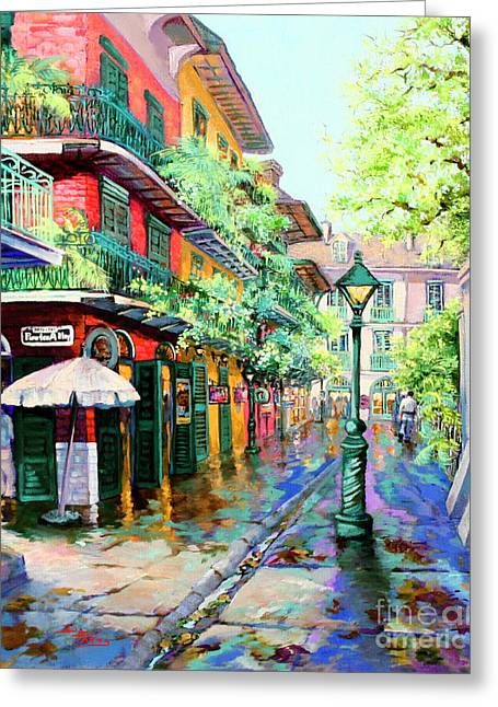 Pirates Alley - French Quarter Alley Greeting Card