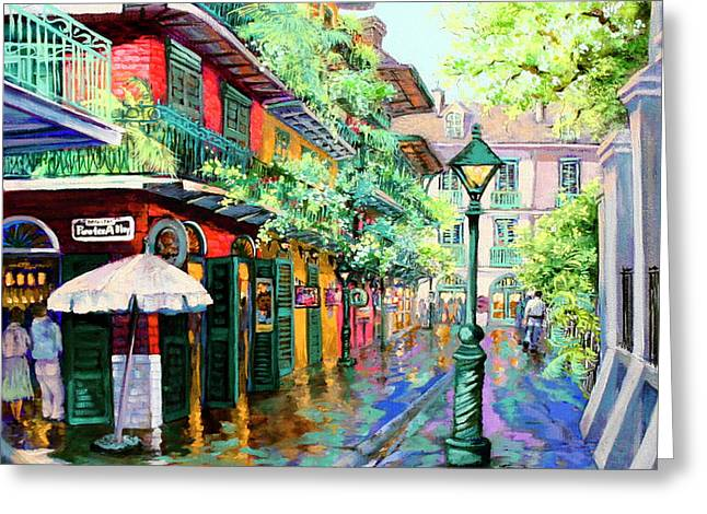 Pirates Alley - French Quarter Alley Greeting Card by Dianne Parks