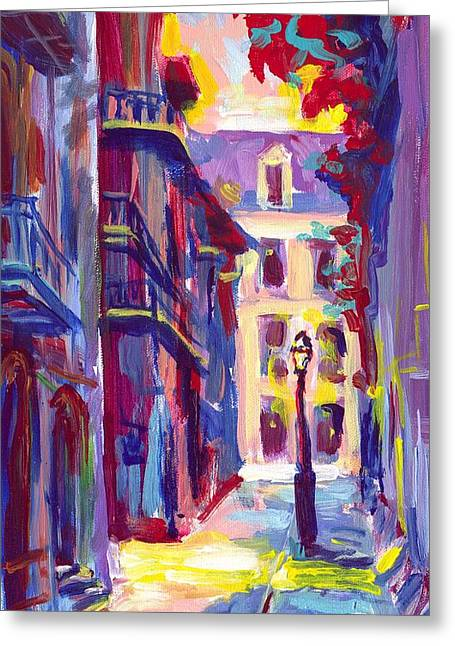 Pirates Alley New Orleans Greeting Card by Saundra Bolen Samuel