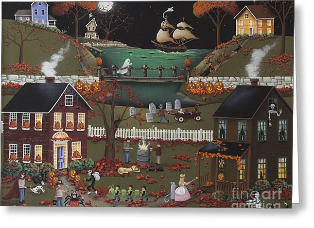 Pirate's Cove Halloween Greeting Card by Catherine Holman