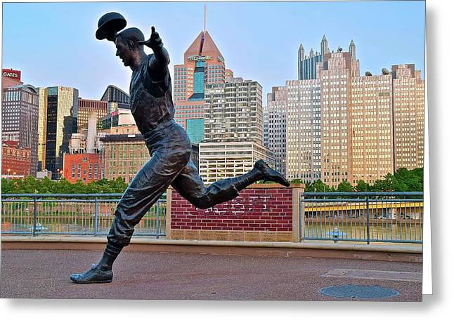 Pirates Legend And City Greeting Card by Frozen in Time Fine Art Photography