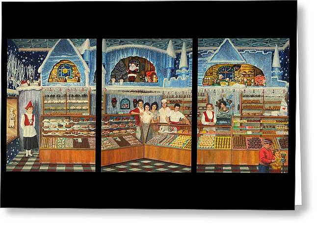 Pirius Bakery Christmas 1960's Triptych Greeting Card