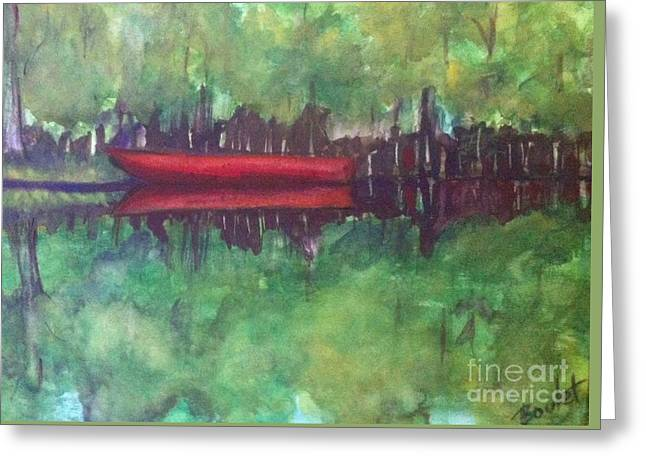 Pirogue On Bayou Lafourche Greeting Card