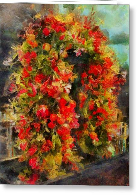Pi's Flowers 2 Greeting Card