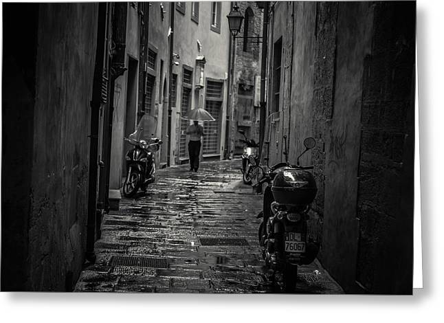 Pisa Back Alley Greeting Card by Chris Fletcher