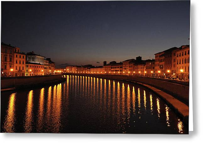 Pisa's Arno Greeting Card