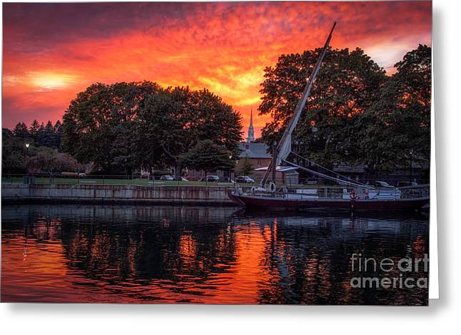 Piscataqua And The Church Greeting Card by Scott Thorp
