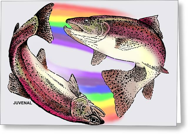 Pisces Artist Greeting Card by Joseph Juvenal