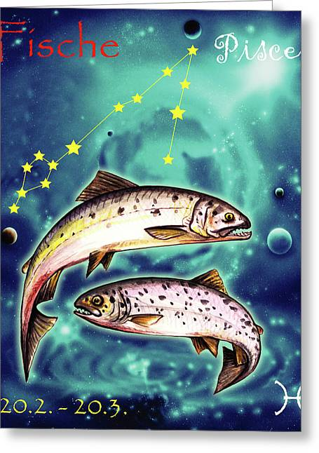 Pisces In The Sky Greeting Card