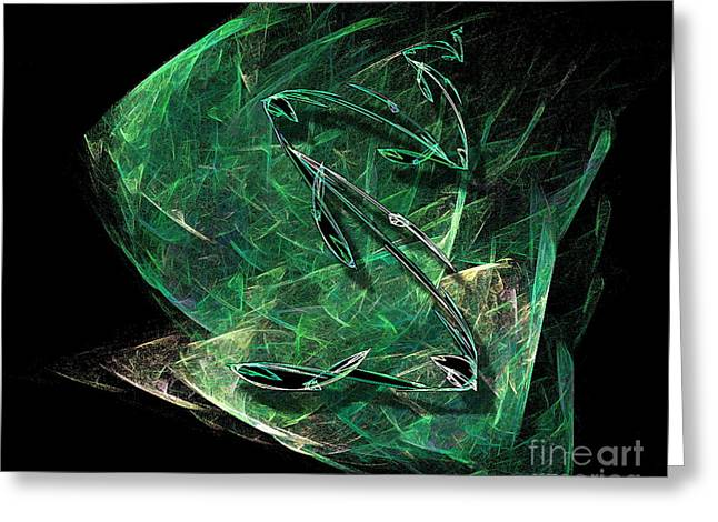 Pisces Greeting Card by Viktor Savchenko