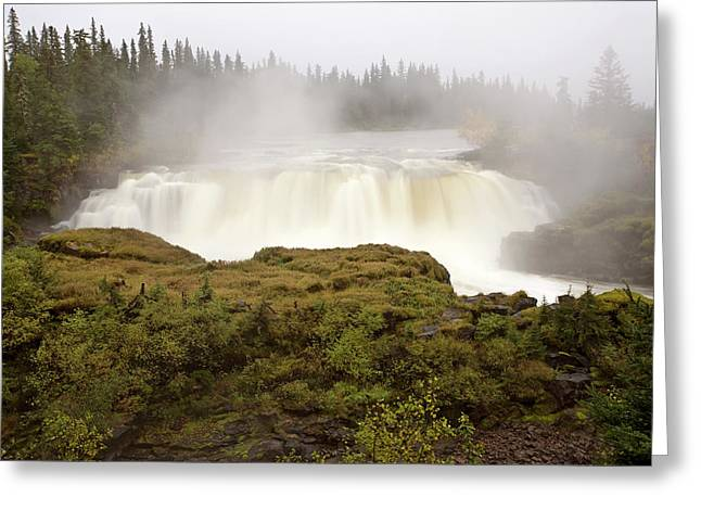 Pisew Falls Northern Manitoba Canada Greeting Card