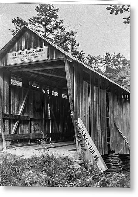 Pisgah Covered Bridge No. 1 Greeting Card