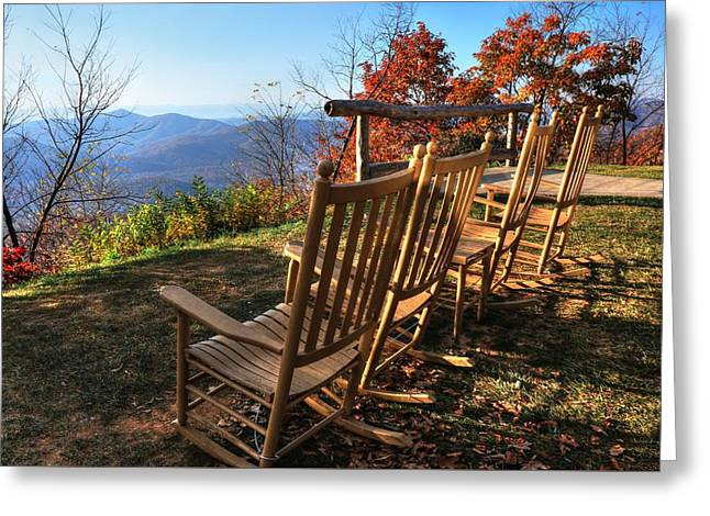 Pisgah Inn's Rocking Chairs Greeting Card