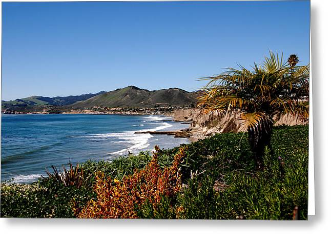 Santa Lucia Mountains Greeting Cards - Pismo Beach California Greeting Card by Susanne Van Hulst