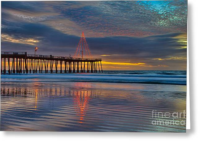 Pismo Beach Christmas Greeting Card