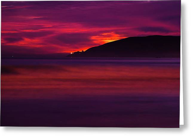 Greeting Card featuring the photograph Pismo Beach On Fire - California - Usa by Gregory Ballos