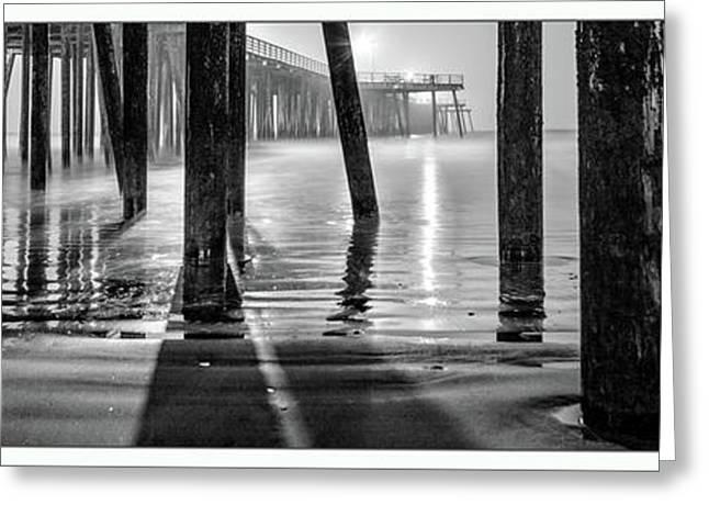Pismo Beach Pier  Greeting Card by John McGraw