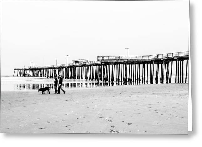 Pismo Beach Pier Greeting Card by Ralph Vazquez