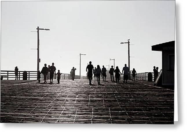 Pismo Beach Shadowland Greeting Card by Sean Davey