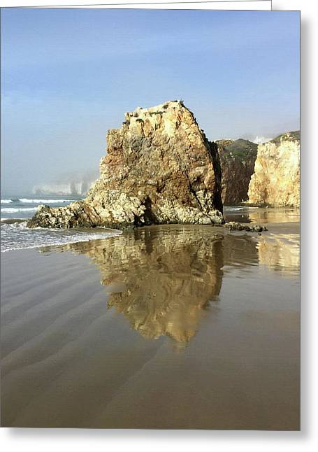 Pismo Sea Stack Reflection Greeting Card by Art Block Collections