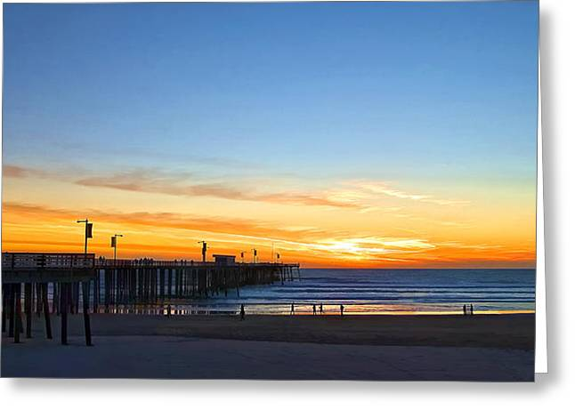 Pismo Sunset Greeting Card
